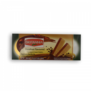 BRITANNIA Hazelnut Flavoured Premium Cream Wafers